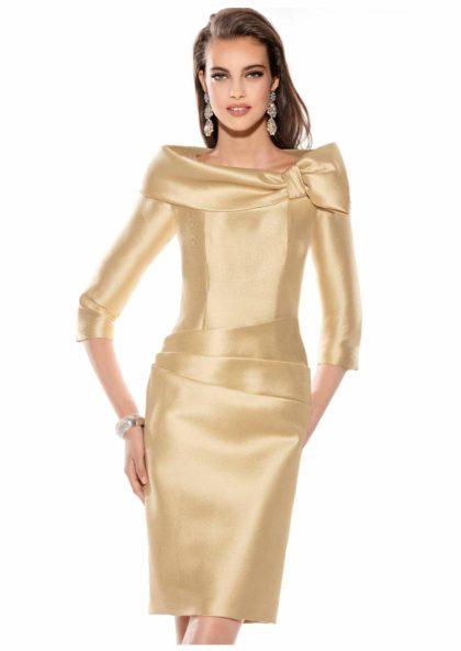 vestido madrina dorado