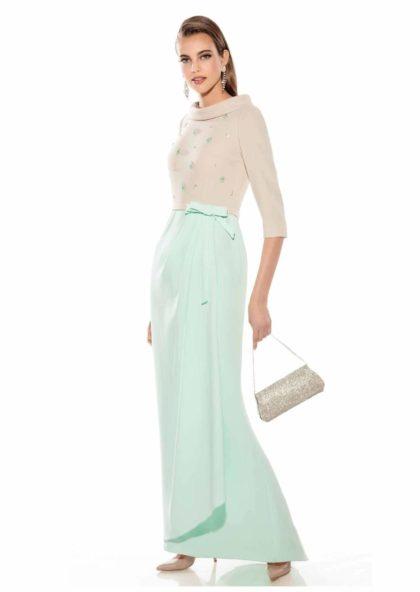 vestido largo bicolor madrina en Valladolid