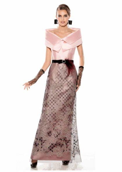 vestido largo de fiesta con capellina en Valladolid