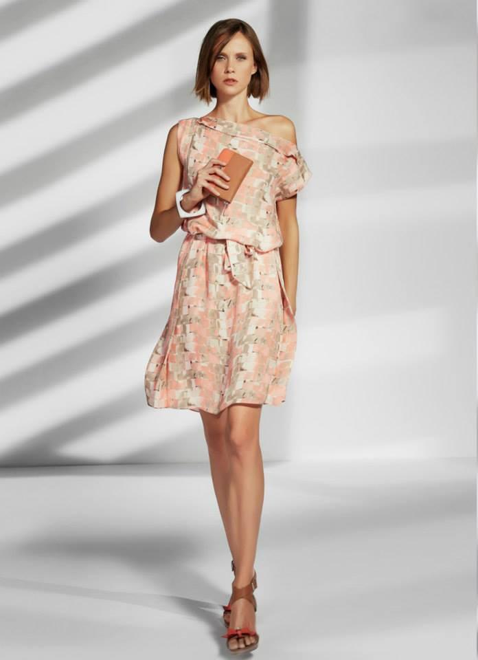 Armani - Vestido de seda estampado