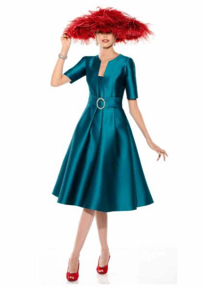 vestido de fiesta ceremonia azulón en Valladolid