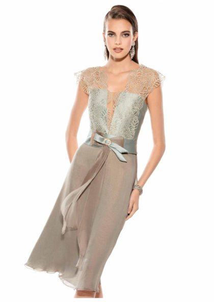 vestido seda y encaje madre de novia elegante en Valladolid